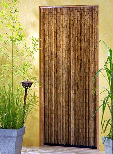 Saigon Bamboo Curtain Door Curtain 90 x 200 cm with 90 Strands Across 90 cm Width