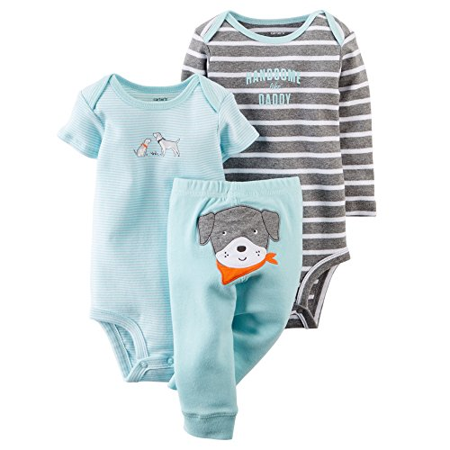 Carter's Baby Boys' 3 Piece Take Me Away Set (Baby) (6 months, Puppy)