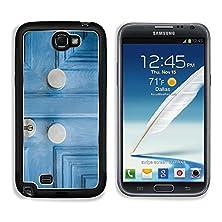buy Msd Samsung Galaxy Note 2 Aluminum Plate Bumper Snap Case Two Elegant Door Handle On A Vintage Blue Painted Door Image 26069357