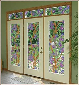 Biscayne see thru stained glass decorative for Non see through glass for bathrooms