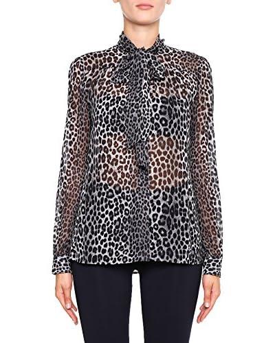 Michael Kors Camisa Mujer Panther Tie Negro