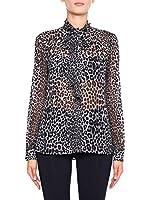 Michael Kors Camisa Mujer Panther Tie (Negro)