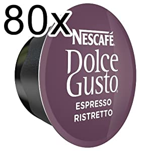 Shop for 80 x Nescafé Dolce Gusto Espresso Ristretto, 80 Capsules from Nestlé