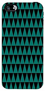 Snoogg Traingle Psyche Pattern Case Cover For Apple Iphone 5/5S