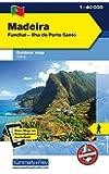 Madeira Outdoorkarte 1 : 40.000: Funchal-Porto Santo. Wanderwege, Radwanderwege, Nordic Walking: Funchal - Ilha do Porto Santo. Wanderkarte (Kümmerly+Frey Outdoorkarte International)