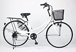 21Technology 26インチ自転車ママチャリ MC266 シマノ製6段ギア付き (ホワイト)