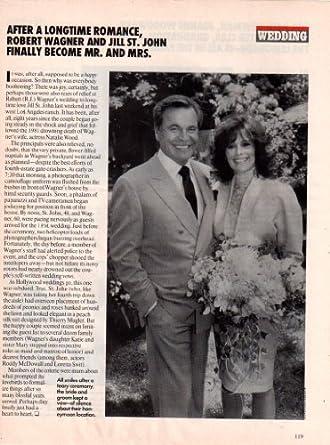 Robert Wagner Jill St John Original Clipping Magazine Photo 1page 8x10