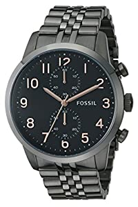 Fossil Men's FS4934 Analog Display Analog Quartz Black Watch