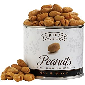 Feridies Hot Spicy Virginia Peanuts 9-ounce Cans Pack Of 4 by FERIDIES