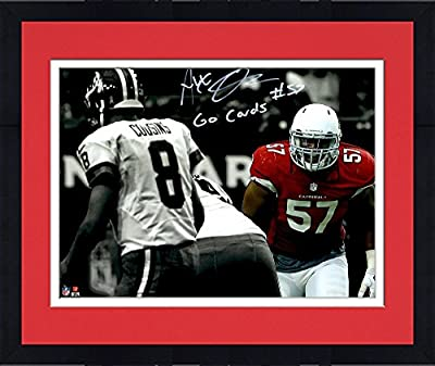"Framed Alex Okafor Arizona Cardinals Autographed 11""x 14"" Spotlight Photograph with Go Cards Inscription - Fanatics Authentic Certified"