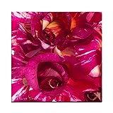 """Rose pink Candystripes als Kissen mit F�llung im Format 70 cm x 70 cmvon """"NatureToPrint"""""""