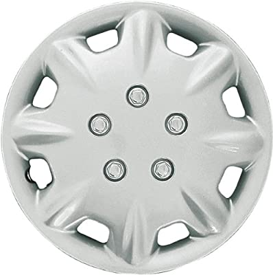 CCI IWCB8094-15S 15 Inch Clip On Silver Finish Hubcaps - Pack of 4