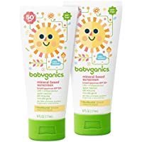 2-Pack Babyganics Mineral-Based Baby Sunscreen Lotion, SPF 50, 6oz Tube
