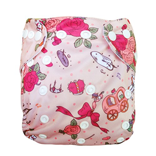 Besto Baby Reusable Washable Aio Cloth Diapers Fit 6-33Lbs With 1 Free Microfiber Insert 1N35 back-789058