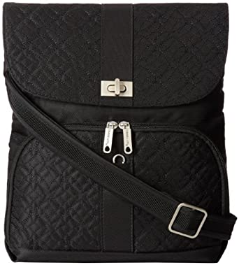 Travelon Anti-Theft Flap Front Shoulder Bag, Black, One Size