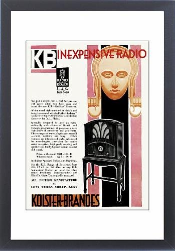 Framed Print Of Advert For Kolster-Brandes In Expensive Radios 1931