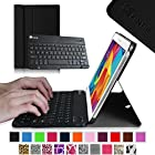 Fintie Blade X1 Samsung Galaxy Tab 4 10.1 Keyboard Case Cover - Ultra Slim Smart Shell Light Weight Stand with Magnetically Detachable Wireless Bluetooth Keyboard, Black
