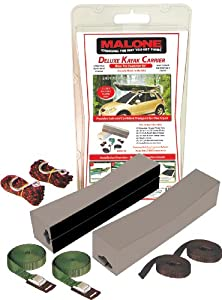 Malone Deluxe Foam Block Universal Car Top Large Kayak Carrier Kit
