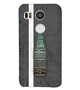 PrintDhaba QUOTE D-7064 Back Case Cover for LG NEXUS 5X (Multi-Coloured)