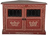 Art of Jodhpur TV Table/Cabinet (Antique Finish, Multicolour)