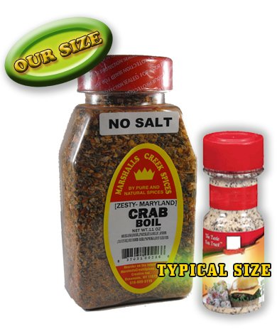 New Size Marshalls Creek Spices Crab Boil No Salt Seasoning, 11 Ounce