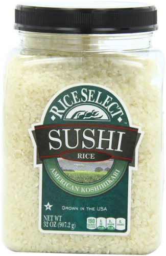 RiceSelect Sushi Rice, 32-Ounce Jars (Pack of 4)