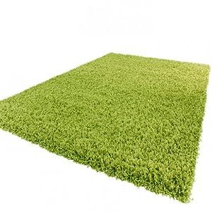 Shaggy Rug High Pile Long Pile Modern Carpet Uni Green from PHC