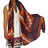 long Scarf Womens Cotton Outerwear Clothing Accessory from India 92 x 213 cmsby DakshCraft
