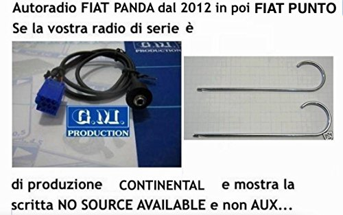 gm-production-191evo-panel-326-k-female-cable-aux-audio-in-mp3-iphone-fiat-panda-from-2012-with-mess