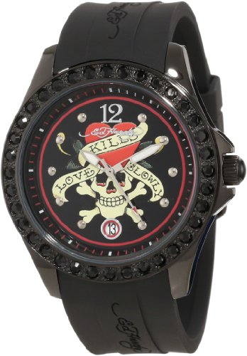 Ed Hardy Women's TE-BK Techno Black Watch