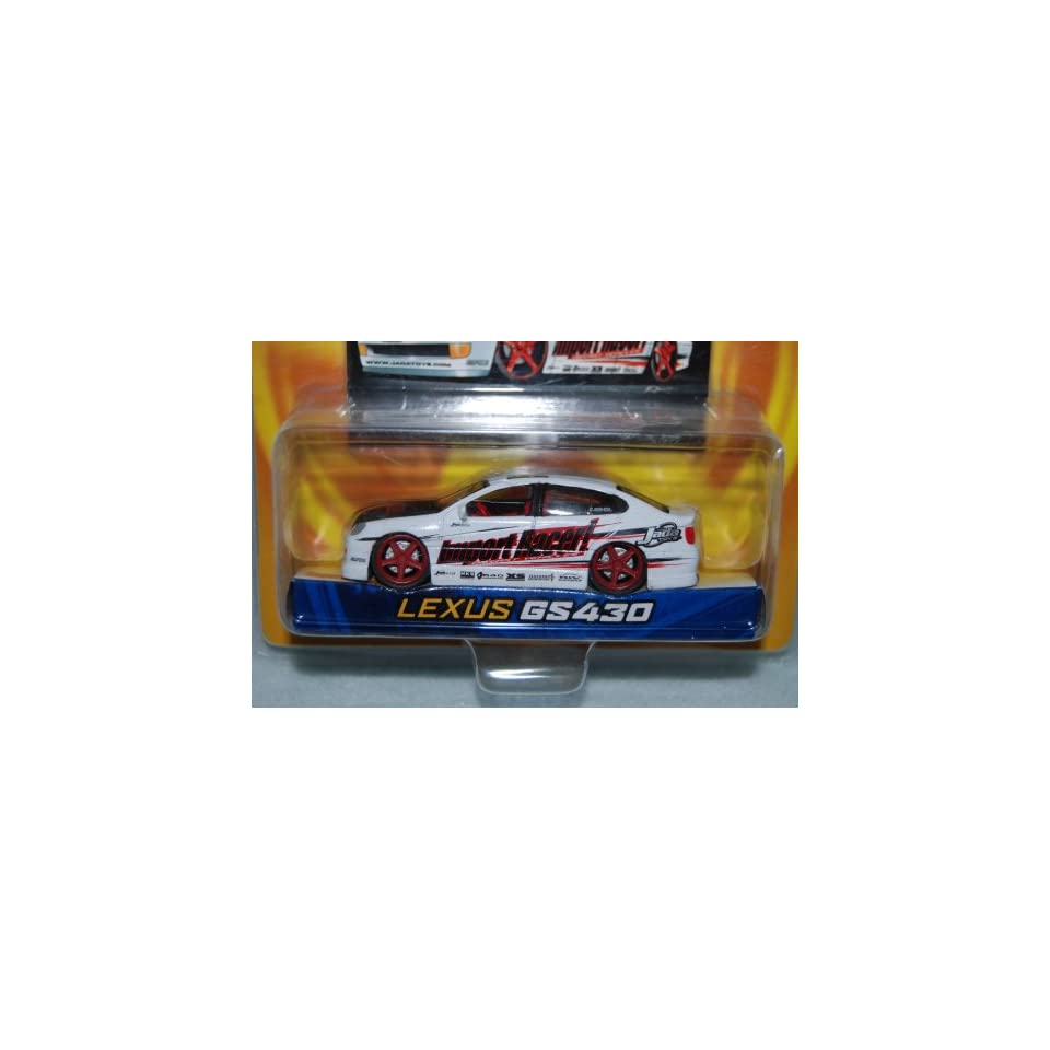 Jada Toys 2003 Dub City Import Racers   White Lexus GS430 with Collector Card #037