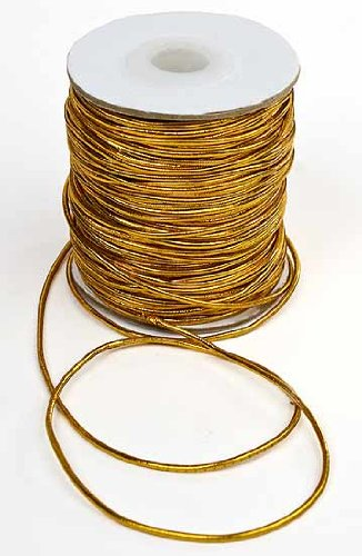 Discover Bargain Gold Metallic Elastic Cord - 50 Yards