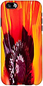 Snoogg Poppy Designer Protective Back Case Cover For Apple Iphone 6
