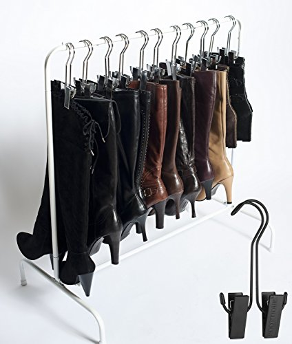 Boottique Boot Rack with 6 Black Hangers, 34 L X 33 W X 17.5 D Inches (Shoe Boot Rack compare prices)