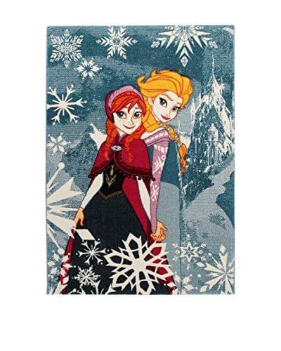 Disney Tappeto Disney Premium Frozen Blu/Multicolore 133 x 190 cm