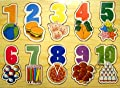 Educational Wooden Toys : Number flat puzzle 24 months +