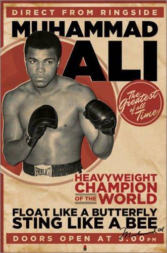 Poster Muhammad Ali - Vintage - manifesto risparmio, cartellone XXL
