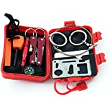 Survival Kit, KUNGIX Emergency SOS Survive Tool Pack for Camping, Hiking, Hunting, Biking, Climbing, Traveling and Emergency