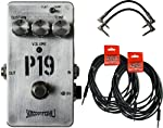 Skreddy Pedals P19 Fuzz Pedal w/ 4 Guitar Cables by Skreddy Pedals