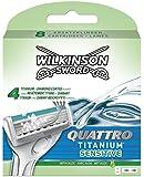 Wilkinson Chargeur de 8 Lames Quattro Titanium Sensitive