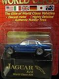 Jaguar XJ-6 (blue) Matchbox World Class yellow Card Series 34 (1993)