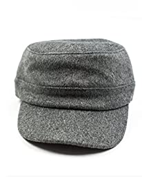 Littlest Prince Couture Gray Wool Cadet Hat-Large 3-7 Years