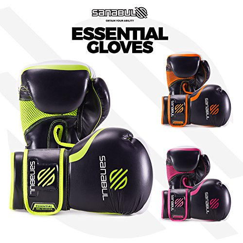 NEW ITEM Sanabul Essential GEL Boxing Kickboxing Training Gloves