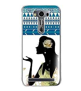 ifasho Designer Phone Back Case Cover Asus Zenfone 2 Laser ZE500KL (5 Inches) ( Orange Black Maroon Colorful Pattern Design )