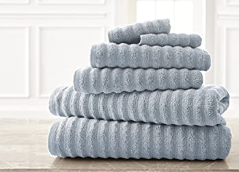6-Piece Luxury Wavy Quick-Dry Towel Set