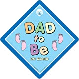 Dad To Be On Board Sign Dad to be Car Sign Blue Feet Baby on Board Sign Baby on Board Bumper Sticker Decal baby Sign Baby Car Sign Dad to be Car Sign