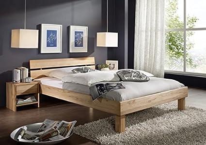 SAM® Massivholz Kernbuche Bett Columbia, geteiltes Kopfteil, Holzbett aus Buche geölt, 160 x 200 cm