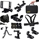 Accessories Kit For Gopro Hero HD Camera Hero4 Black/Silver Hero3+ Hero3 Bicycle Handlebar / Seatpost Clamp With Three-way Adjustable Pivot Arm + 2 PCS Surface J-Hook + Wrist Strap Band Mount Wristband + Octopus Tripod + Frame Mount Housing + Quick Releas