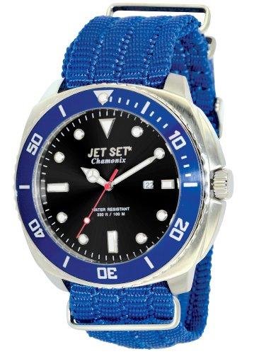 Jet Set J27703-263 - Reloj analógico de cuarzo para hombre, correa de sintético color azul