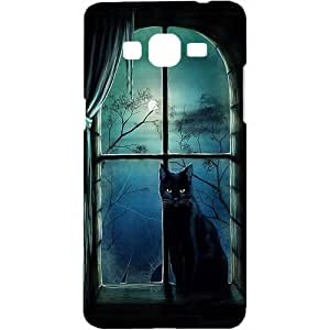 Casotec Black Cat Design Hard Back Case Cover for Samsung Galaxy Grand Prime G530